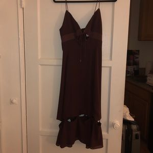 Finders The Label Burgundy Midi Dress Size Small